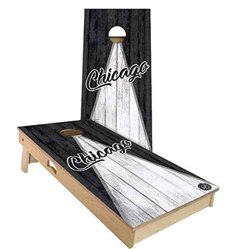 Skip's Garage Chicago Triangle Baseball Cornhole Set - 2x4 (24