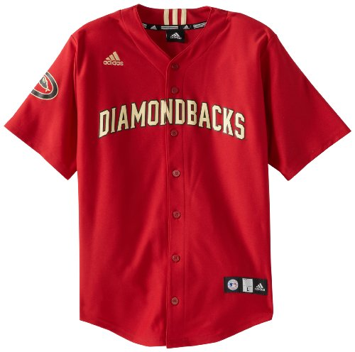 Arizona Baseball Jersey (MLB Arizona Diamondbacks Boy's Screen Printed Team Color Baseball Jersey, Rio Red,)