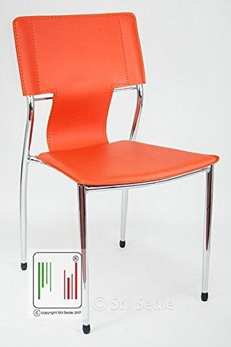 Poltrone Per Ufficio Roma.Stil Sedie Poltrona Sedia Ufficio Modello Roma Arancione Amazon
