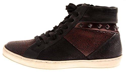 Nero Di Intercambiabile Plantare 8264 8263 Donna Marrone Isabelle Pelle Sneaker Scarpe Top High qXwX8P