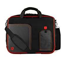 Fire Red Pindar Edition Messenger Bag Protective Netbook Carrying Case for Asus Eee PC 1011PX 10.1-inch Netbook PC