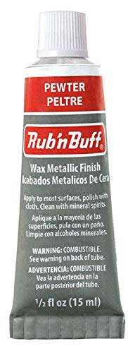 AMACO 76380A Rub 'n Buff Wax Metallic Finish, Pewter, 0.5-Fluid Ounce ()