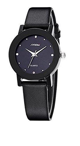 Klassisch Leisure Strass Armbanduhr Pärchen Quarzuhr Damen Armbanduhr, Schwarz