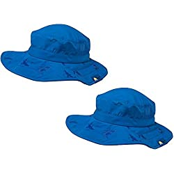 2pk Kids Safari Hat Sun Protective Zone UPF 50+ Child Block UV Rays Shade 938151 Blue Boys