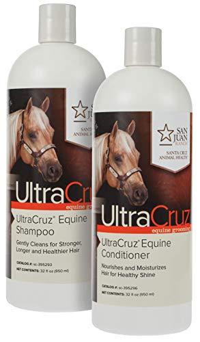 UltraCruz Equine Horse Shampoo and Conditioner Bundle, 32 oz Each