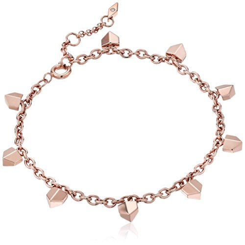 Fossil Vintage Glitz Chevron Rose Gold Bracelet, - Rose Gold Chevron
