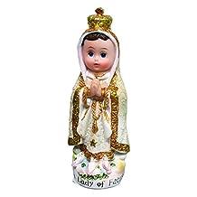 5 Inch New Arrival Creative Style Child Fatima Statue Catholic Virgin Virgen Santa Fatima Estatua