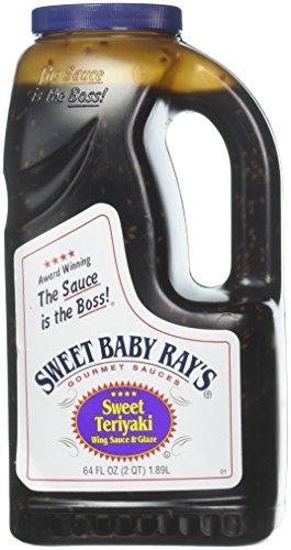 (Sweet Teriyaki Wing Glaze & Sauce by Sweet Baby Ray's, 64 oz. jug)