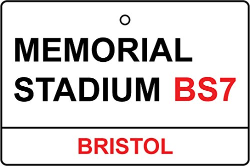 Bristol Memorial - Bristol Rovers/Memorial Stadium Street Sign Car Air Freshener (Xmas Christmas Stocking Filler/Secret Santa Gift)