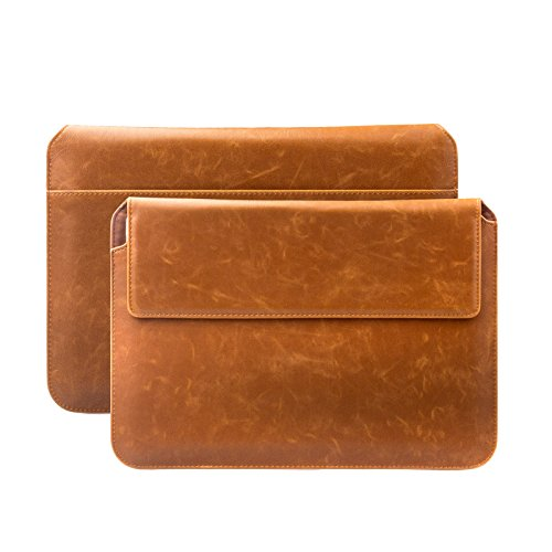 iCues Case for Apple iPad Mini 4 Sleeve Bag Compatible with Samsung Galaxy Tab S2 8.0 suitably for from 6.9 to 8.0 inches Tablets Buffalo Brown Piquante Cover Envelope Other Leather - Colour