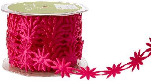 May Arts Ribbon, Fuchsia Daisies