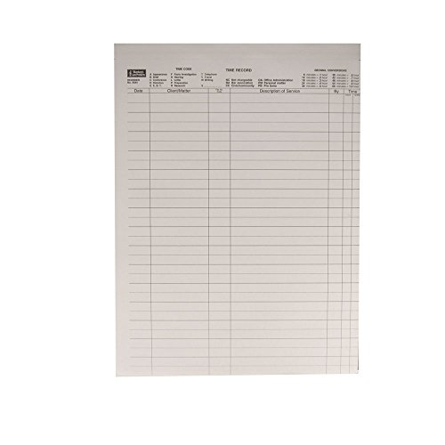 Time Record Sheets with Labels, 100 No Carbon Required Two-Part Sheets per Package; 1500 Labels (8.5-x-11-inch) by Blumbergs Law Products