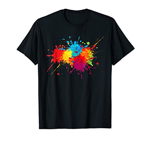 Colorful Paint Splatter Shirt Gift for Boys Girls Art Lovers -