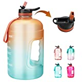 OSVAW Large 1 Gallon Water Bottle with Straw