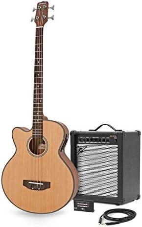 Bajo Electroacustico para Zurdos de Gear4music + Pack de Ampli de 35W: Amazon.es: Instrumentos musicales