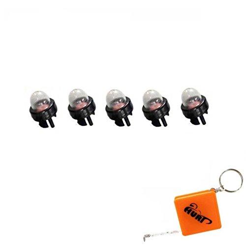 HURI 5 Primer Bulb for Walbro 188-512 188-512-1 Roybi Stihl Homelite Sears Blower Weedeater Trimmer 01183 UP04033 300780001 300780002 300780004 530047721