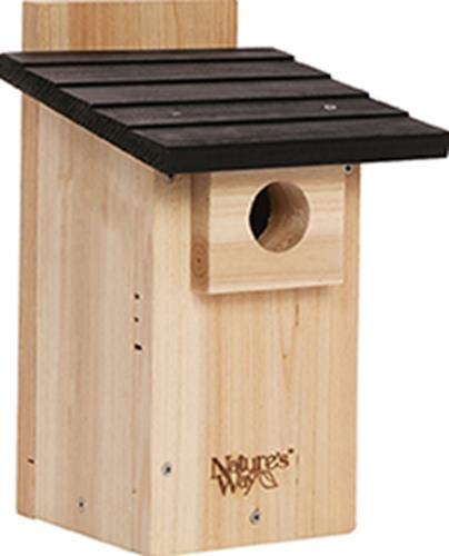 Eastern Bluebird Nest - Nature's Way Bird Products CWH4 Cedar Bluebird Viewing House