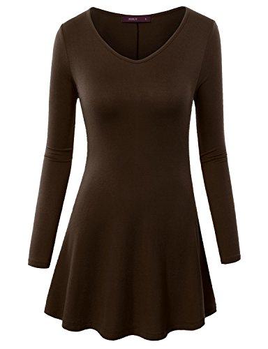 Doublju Designed V Neck Tunic Top product image