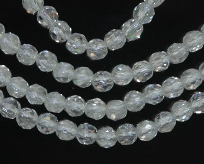 Rock Crystal 4mm Genuine Quartz Strand Round Faceted A+ Beads (Quartz Faceted Beads)
