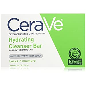 CeraVe Hydrating Cleansing Bar Soap 4.5 oz for Daily Body and Facial Washing, Dry to Normal Skin
