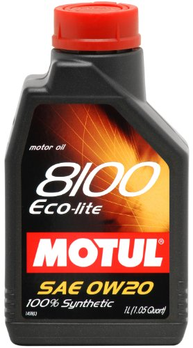 Motul 84121 8100 Eco-lite 0W-20 Synthetic - 1 Liter - 12 Pack