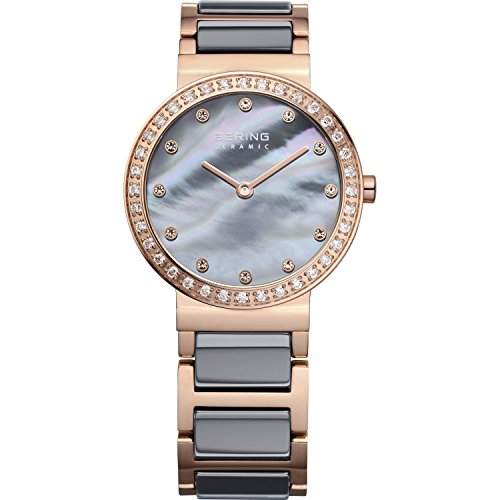 BERING Time 10729-769 Womens Ceramic Collection Watch with Stainless steel Band and scratch resistant sapphire crystal. Designed in Denmark.