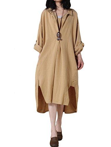 Mordenmiss Women's New Hi-Low Hem Plus Size Dresses with ...