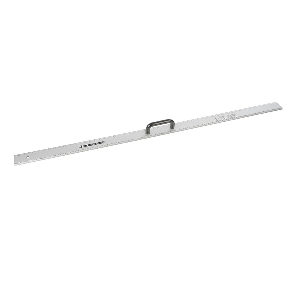 Silverline 731210 R/ègle en aluminium /à poign/ée 1200 mm