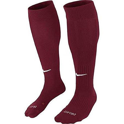 Nike Classic II Sock, Calcetines Unisex Multicolor (Dark Red/White)