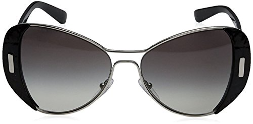 a8f4d231cd178 Prada Women s 0PR 60SS – 1AB0A7 Sunglasses Silver Black Gradient 55mm –  Sunglasses Shop