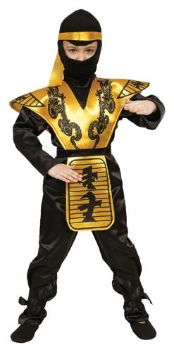 Fire Ninja Costume (Deluxe Ninja Costume Set - Medium 8-10)