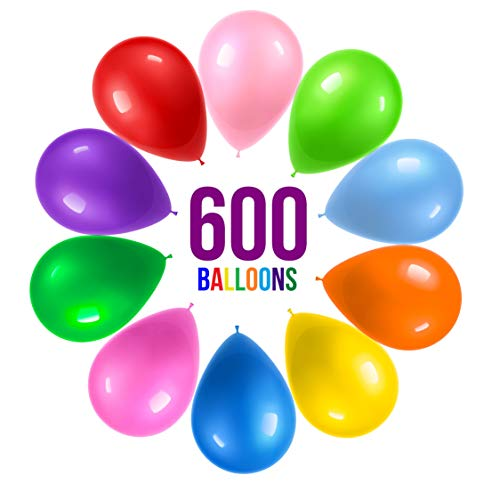 Prextex 600 Party Balloons 12 Inch 10 Assorted