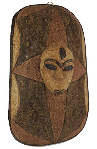 Fon Shield Wood with Mask Face Benin African Art