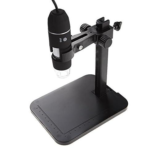 econoLED 800X 8 LED 2MP USB Digital Microscope Endoscope Magnifier Camera+Lift Stand - 8 Digital Stations