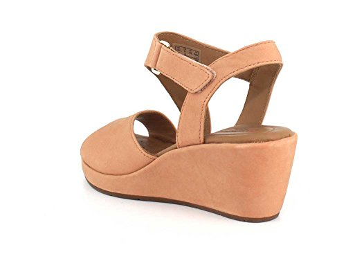 Peach Nubuck Sling 9 CLARKS Sandal Plaza Size 5 Wedge Womens Un Bx6O7