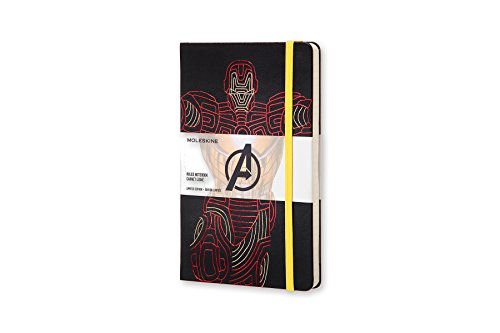 Moleskine The Avengers Limited Edition Notebook, Large, Ruled, Black, Ironman, Hard Cover (8055002852739)