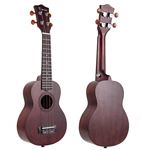 Ukulele Soprano Mahogany Ukelele Uke With Beginner Kit ( Ukele Gig Bag Tuner Strap String Instruction Booklet ) (21 Inch Special Offer) - Image 1
