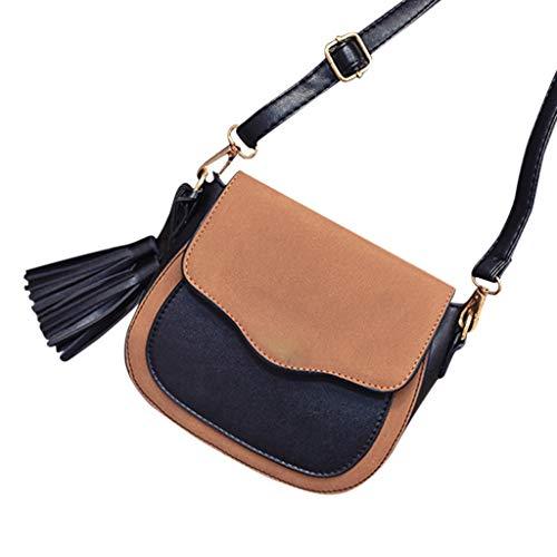 AopnHQ 2019 New Trend Women Shoulder Handbags, Retro Crossbody Messenger Bags, Tassel Ornaments Women Bags