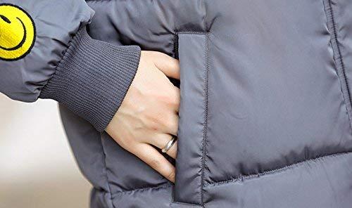 Stepp Quilting Femme Mode Taille Chaud Hiver Coat Grande Grau Hiver Qualit De Parka Capuchon paissir Blouson breal Longues Manches Longues Elgante Chemine Haute pqWdn4p