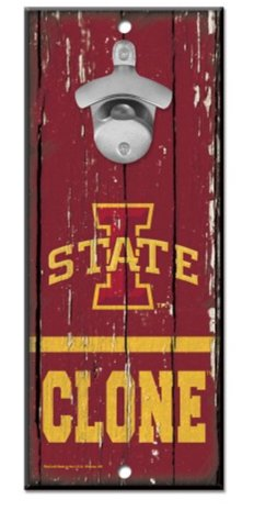 (WinCraft NCAA Iowa State University Cyclones Wood Bottle Opener Sign, 5