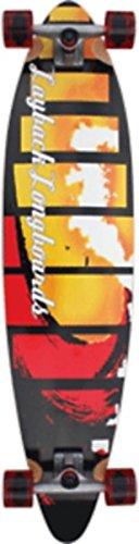 Layback Red Tide Complete Longboard Skateboard - 9.5