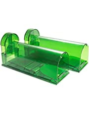 Catcha 2 Piece Humane Smart Mouse Trap Live Catch and Release Rodents, Safe Around Children and Pets