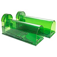 Catcha 2 Piece Humane Smart Mouse Trap Live Catch and Release Rodents, Safe Around...