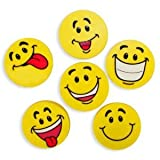 Fun Express Large Smile Face Erasers (4 Dozen)