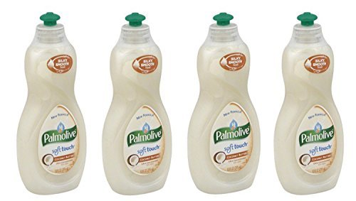 Palmolive Ultra Concentrated Soft Touch Dish Liquid, Coconut Butter, 10 Ounce, (Pack of 4)