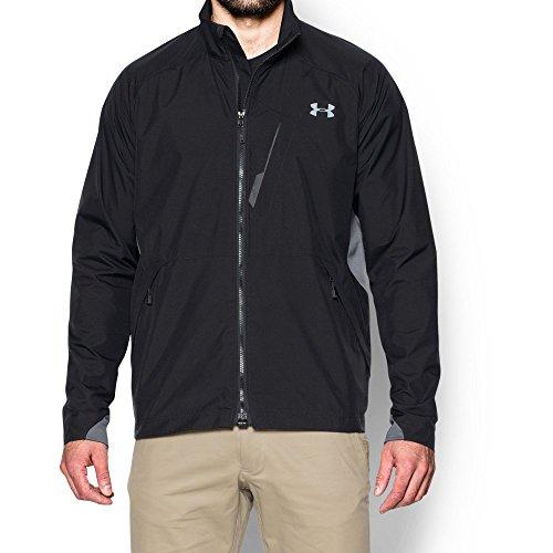 Under Armour Men's UA CGI Shadow Jacket, Black (001)/Steel, Large