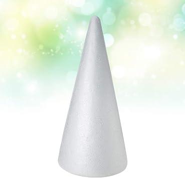 38x13.5cm SUPVOX 2pcs Foam Cones Christmas Tree Cone Styrofoam Cones for DIY Modeling Craft Floral Arranging Supplies