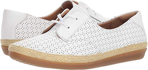 Millie 8 B Clarks White Us Women's Danelly Leather XwExRqvTx