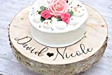 Raised Wedding Cake Stand - Wood Cake Stand - Tree Slice Cake Stand - Donut Holder - Donut Stand - Cake Platter - Personalized Cake Stand