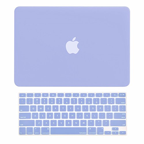 TOP CASE - 2 in 1 Rubberized Hard Case Cover and Keyboard Cover Compatible with MacBook Air 13